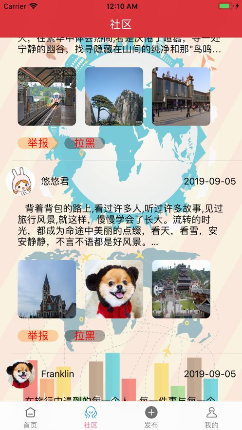 乐享旅行日记app